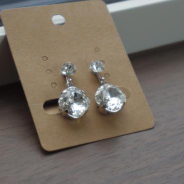 飾りはこれひとつ silverイヤリング