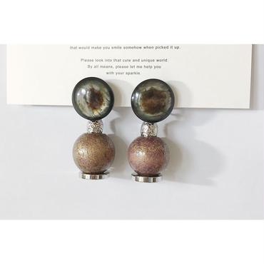 ●beads___assembly 2  pierced earrings
