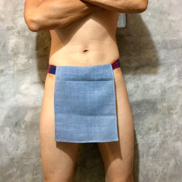 ふんどし【チェンマイ手織綿グレイ01】ShiNoBi Samurai Under Wear Homespun Cotton Gray01