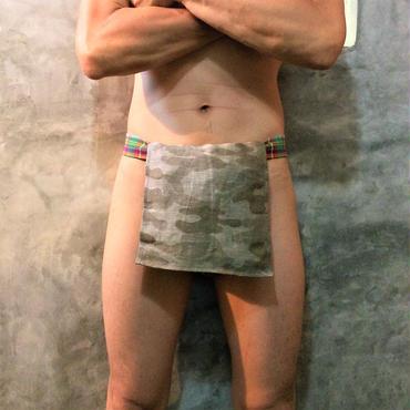 """ふんどし【麻蚕レインボーソルジャー】 """"Asa-Gaiko Rainbow Soldier"""" 忍×Samurai Underwear (素材:麻絹/Hemp+Silk)"""