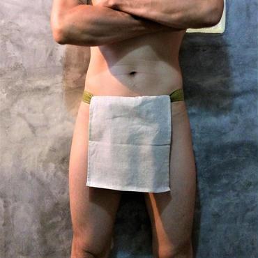 """ふんどし【麻生成リネン緑】 """"ASA-KINA-LINEN-GREEN"""" 忍褌×ShiNoBi Samurai Underwear (素材:麻亜麻/LinenHemp)"""