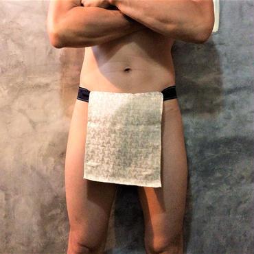 """ふんどし【柄巻手裏剣】 """"EMAKI-SYURIKEN"""" 忍褌×ShiNoBi Samurai Underwear (素材:生成麻亜麻)"""