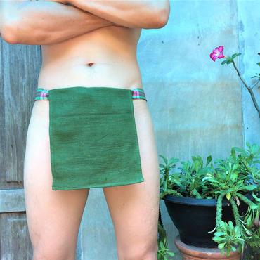 ふんどし【チェンマイ手織綿緑01】ShiNoBi Samurai Under Wear Homespun Cotton Green01