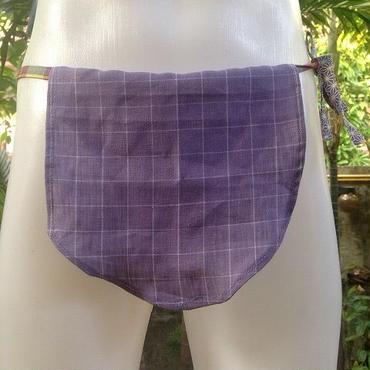 ふんどし女子【くノ一すみれT】旅旅バージョン T-Back リネン ShiNoBibrand Samurai Under Wear Pure Linen Hemp T-Back Violet02