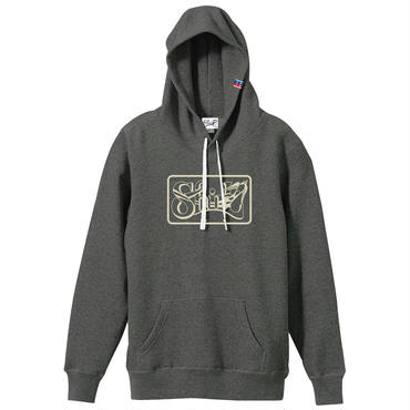 SHIRL BOX  LOGO SPRING HOODED   ( HEATHER CHARCOAL)(SH171401CHA)