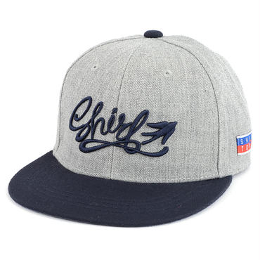 FREE FLY 3D SNAPBACK 6PANEL CAP (MIX GREY X NV)(SH160206GNV)