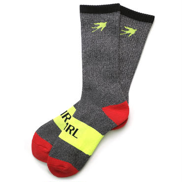 SHIRL SPORTS PILE SOCKS   ( CHAC/RED/YEL) (SH171601CRY)  MADE IN JAPAN
