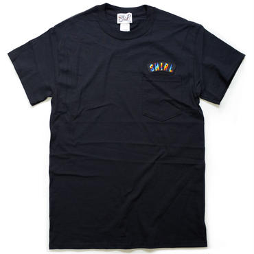 RAINBOW ARCH SS POCKET T-SHIRTS  (BLACK)(SH181213BLK)
