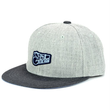 SQUARE PATCH SNAPBACK 6PANEL CAP (MIX-G/D-GREY)(SH150203GCH)