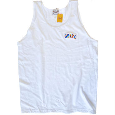 RAINBOW ARCH TANK-TOP  (WHITE)(SH181313WHT)