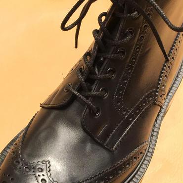 トリッカーズのカントリー用/カントリー シューレース 黒 靴ひも 70cm 110cm 120cm