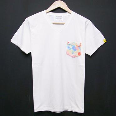 初回カラー数量限定! Colorful Botanical - Pocket Tshirts:カラーボタニカル - ポケットTシャツ バニラホワイト