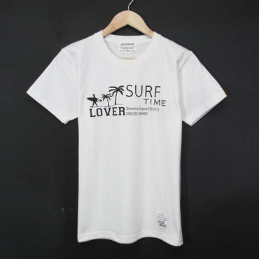 MADE IN JAPAN:Print T-Shirts Surf Time Lover/サーフタイムラバー・半袖Tシャツ [WHITE]