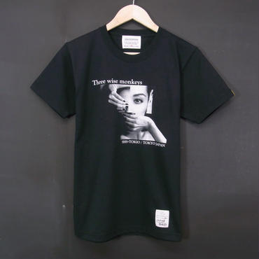 MADE IN JAPAN:Print T-Shirts Three Wise Monkey・半袖Tシャツ [BLACK]