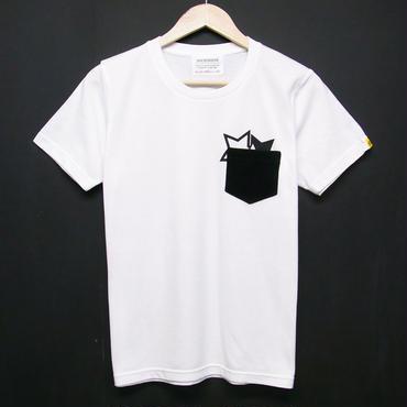 STAR on CORDUROY - Pocket T-shirts:星&コーデュロイ - ポケットTシャツ ホワイト
