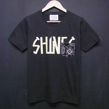 SHINES on Bandana - Pocket Tshirts:SHINES on バンダナ - ポケットTシャツ ブラック