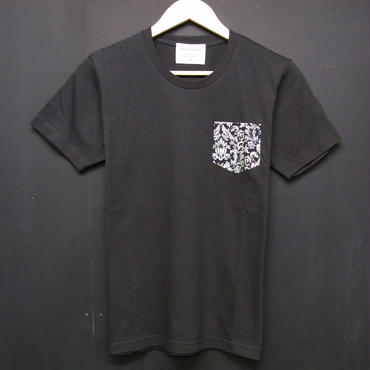 Dark Botanical - Pocket Tshirts:ダークボタニカル - ポケットTシャツ ブラック