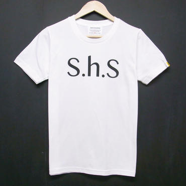 S.h.S - Print T-shirts:S.h.S シンプルTシャツ ホワイト