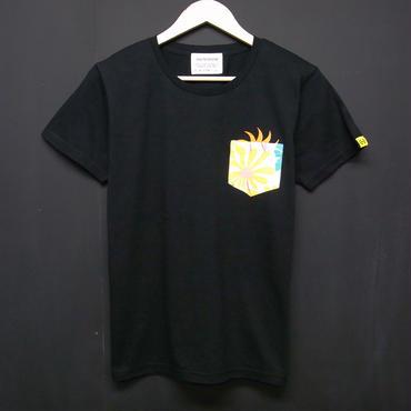 SUN in Botanical  - Pocket Tshirts:太陽とボタニカル - ポケットTシャツ ブラック