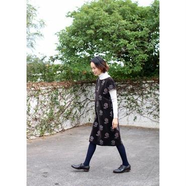 ミナ ペルホネン chum ドレス -charcoal-