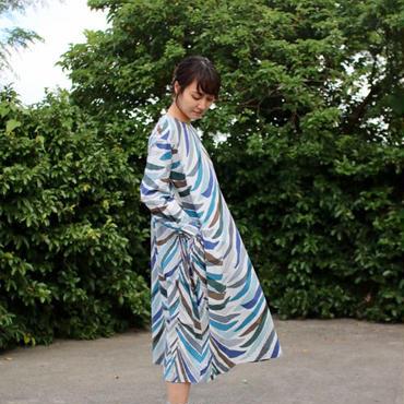 ミナ ペルホネン ランドリー carnival tree ドレス- blue mix -