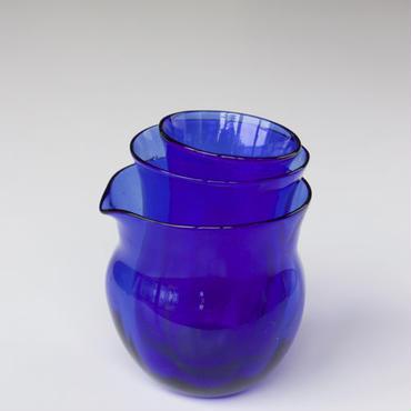 マトリョーショカグラス 3個セット(青)