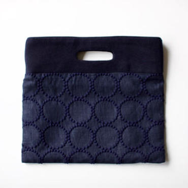 ミナ ペルホネン flag bag S - tambourine - navy