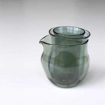 マトリョーショカグラス 3個セット (灰緑色)