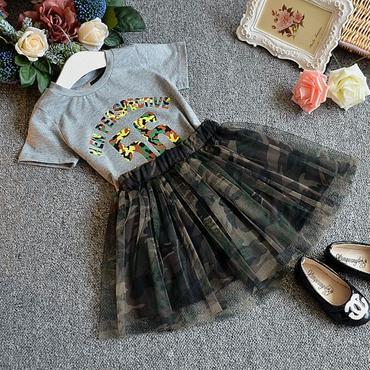 Tシャツ+チュールスカート♡