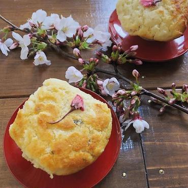 桜と甘酒のマフィン Sakura & Amasake Muffin Vegan