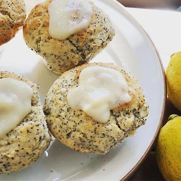 レモンポピーシードアールグレイ  Lemon poppy seed earl gray muffin vegan