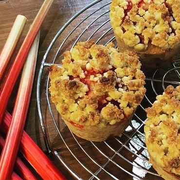 ルバーブコブラー Rhubarb cobbler muffin vegan