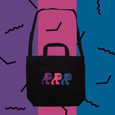 RRRちゃん刺繍BAG(Black)