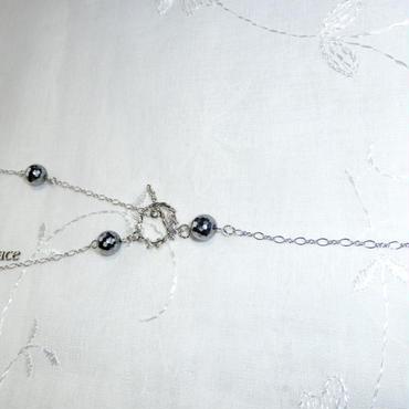 テラヘルツY字ロングネックレス(NY002)