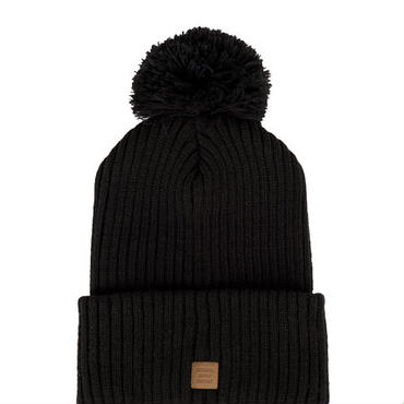 Herschel Supply/ハーシェル・サプライ - Alpine(アルパイン) ポンポンニットキャップ (Black / ブラック) 【セール】【ニット帽】【ビーニー】【スノーボード】【スキー】