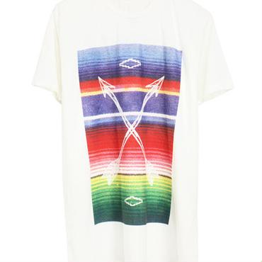 Warpaint/ウォーペイント - Rising ハンドプリントTシャツ (オフホワイト)