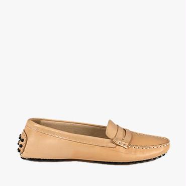 Deux Souliers (サンプルコレクション) - Driver Shoe #2 ドライバーシューズ (ヌード) 【スペイン】【靴】【シューズ】【モカシン】【インポート】【VOGUE】