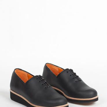 Deux Souliers - One Piece Oxford #1 Greased Black レザー・レースアップ・シューズ (ブラック)【スペイン】【靴】【シューズ】【インポート】
