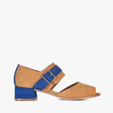 Deux Souliers (サンプルコレクション) - Buckle Semi Heel #1 バックルセミヒールサンダル (Cuero&Azulón) 【スペイン】【靴】【シューズ】【VOGUE】