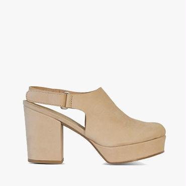 Deux Souliers (サンプルコレクション) - Plain Heel #1 バックストラッププラットフォームヒールサンダル (ヌード) 【スペイン】【靴】【チャンキーヒール】【VOGUE】