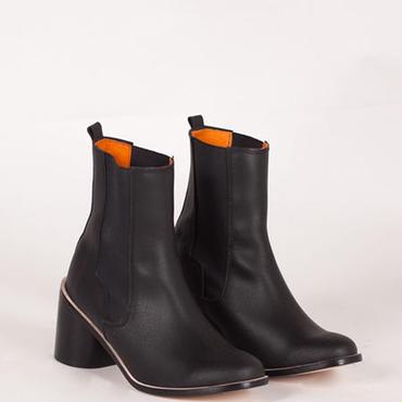 Deux Souliers - Chelsea Plain Heel #1 Black サイドゴア・チャンキーヒール・ショートブーツ (ブラック)【スペイン】【靴】【シューズ】【インポート】