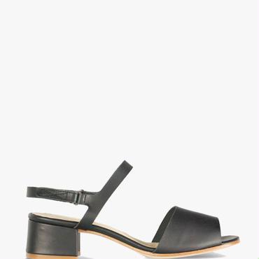 Deux Souliers (サンプルコレクション) - Sandal Semi Heel #1 ストラップサンダル (ブラック)