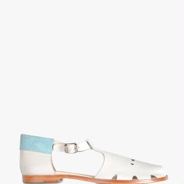 Deux Souliers (サンプルコレクション) - Sandal #4 サイドオープンデザインサンダル (ホワイト)