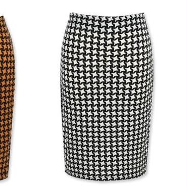 [ボトムス スカート]♪正方形 パターン スカート ブラック・ブラウン・キャメル(フリー)♪