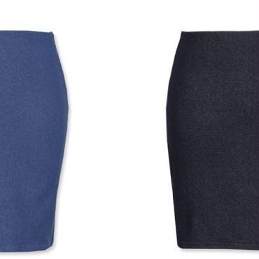 [スカート タイト]♪チョンジ スカート ブルー・ブラック(フリー)♪