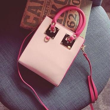 [バッグ]♪ピンクピンク 春 ドットショルダーバッグ(1color)♪