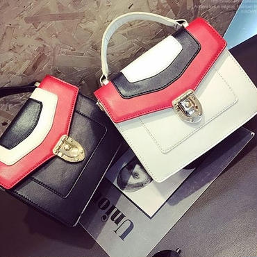 [バッグ]♪名品スタイル 3カラー ドットショルダーバッグ(2color)♪