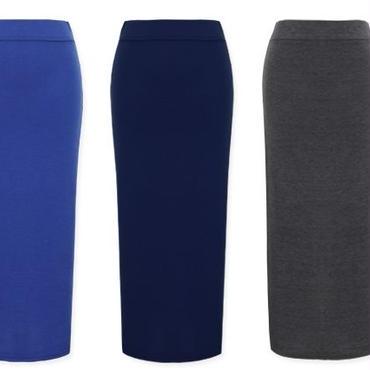 [ボトムス スカート]♪モーニング ロング スカート ブルー・ネイビー・チャコール・ブラック(フリー)♪