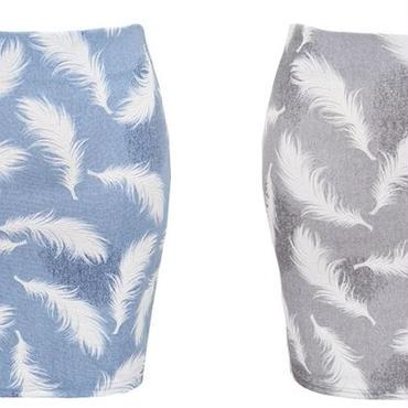 [ボトムス スカート]♪ウイング スカート ブルー・グレー(フリー)♪