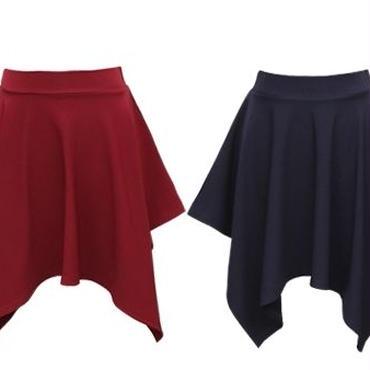 [ボトムス スカート]♪ポカリ カール スカート ベージュ・ワイン・ネイビー・ブラック(フリー)♪